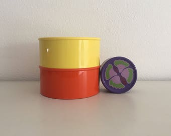 Mepal koektrommel retro paarse koekjestrommel vintage flower design cookies bin purple cookie jar