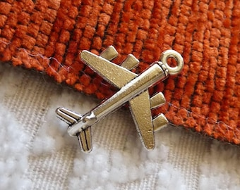 Airplane Charms, Bracelet Charms, Aeroplane Necklace Pendants Charms, Silver Tone  Plane Charms, Pilot Charms, Flight Attendant Charms