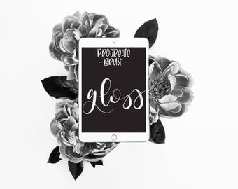 Gloss - Procreate Brush - iPad Pro - Apple Pencil - Instant Download - Digital Hand Lettering - lefty.script