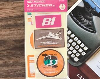 Midori Travelers factory BRANIFF international limited stickers set 2 sheets