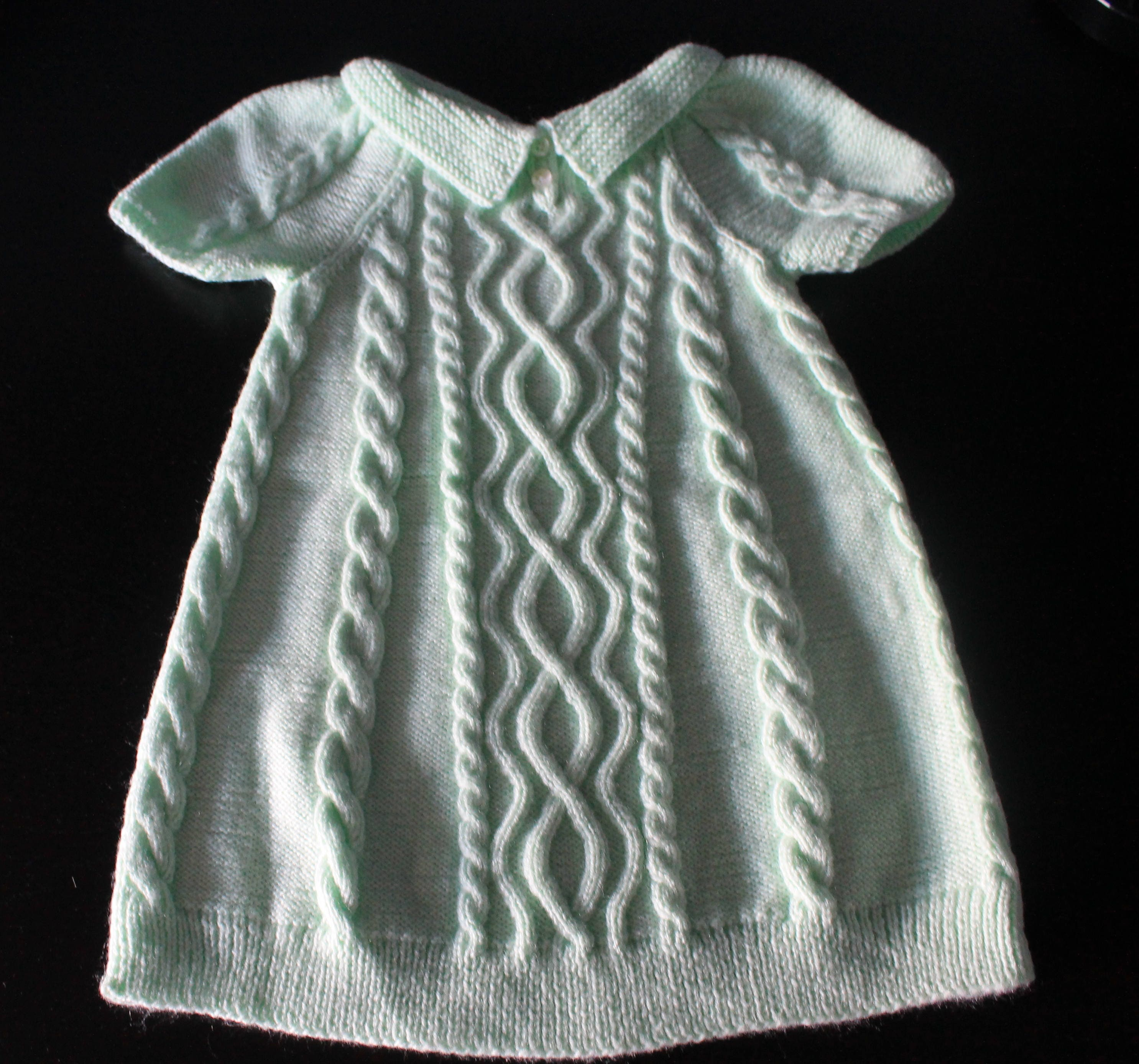 Knitted dress Tunic Hand knit dress Cozy baby clothes Baby knitwear