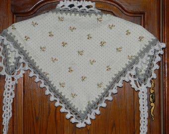 Mini original shawl or scarf, based on fabric