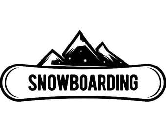 Snowboarding Logo #6 Snowboarder Snow Board Skiing Helmet Google Mask Winter Extreme Sport .SVG .EPS .PNG Clipart Vector Cricut Cut Cutting