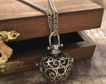 FILIGREE URN Necklace, # 909, Personalized with Birthstone and Family/Friend charm,  Keepsake urn, Bereavement Gift, Cremation Jewelry