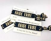 Bride Tribe Hair Ties, Bridesmaid Proposal, Bachelorette Favor Hair Ties, Gold Foil, Bridesmaids Hair Ties, Handmade Ponytail missponytail