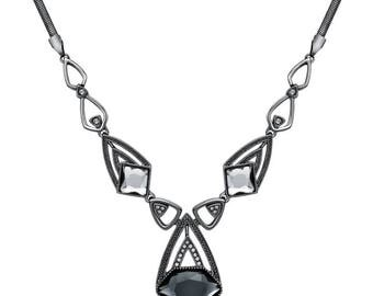 Occuria Swarovski Elements Gunmetal Necklace
