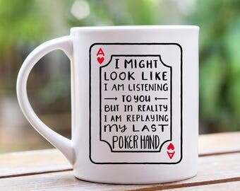 Poker Coffee Mug, Poker Player Gifts, Poker Gifts, Coffee Cup, Coffee Mug, Funny Coffee Mug, Coffee Mug For Him, 11 oz