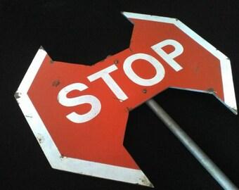 STOP sign axe / Ax STOP