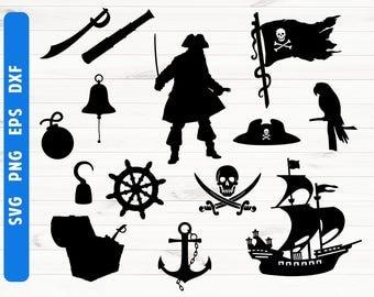 Pirate silhouette SVG Pirate Cricut Digital files Commercial use ok