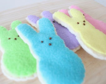 Easter Marshmallow Cookies - Easter Cookies - Easter Felt - Felt Food - Felt Cookies - Felt Play Food - Felt Pretend Food - Felt Spring
