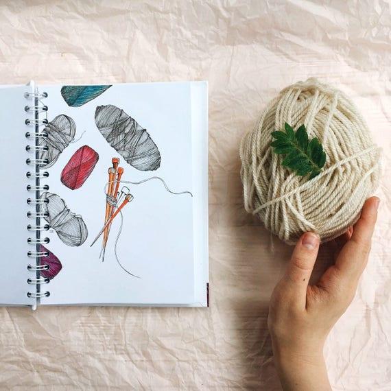 Knitting Journal Ideas : Knitters planner knitting notebooks