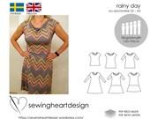 PDF-pattern. Rainy Day. Top/Tunic/Dress. Size 32-60