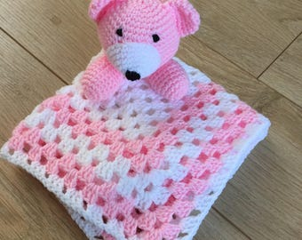 Teddy bear comforter finished product