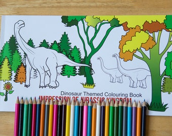 30 Page Dinosaurs Colouring Page for Kids.