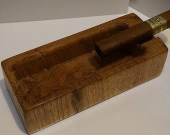 Natural Oak Cigar Ashtray