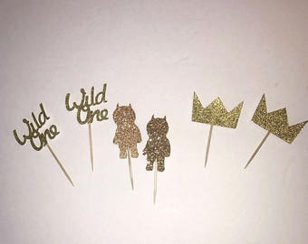Wild Things Cupcake Toppers