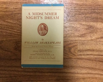 A Midsummer nights dream by William Shakespeare – with the famous temple notes – 1909