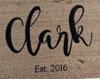 Last Name Doormat- PICK UP ONLY