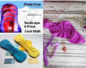 "PDF Tutorial Canadian Smocking Cloth Pad Pattern Gushy Pad smocking Sewing tutorial Post Partum Pad PDF Sewing Pattern 3"" wide STAGE 2"