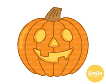 Doodle Carved Pumpkin Clipart Illustration for Commercial Use   0510