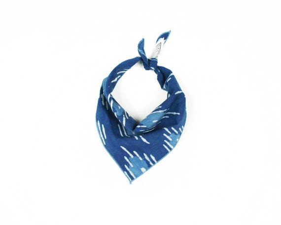Indigo Blue Batik Small Dog Bandana