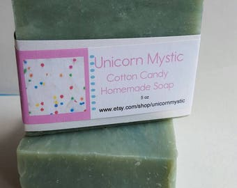 Fun Cotton Candy Cold Processed Homemade Bar Soap
