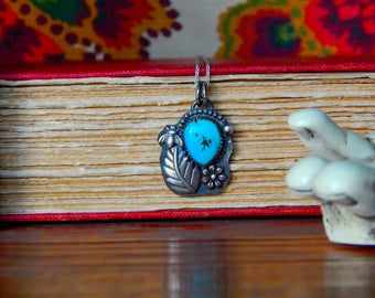 SALE *** Autumn Cloud Collection- Sterling Silver Turquoise Necklace
