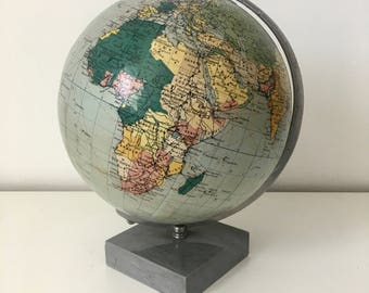 World globe Taride 30 cm vintage 1947