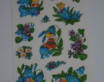 "a sheet of stickers ""fairies"" theme"