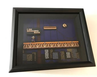 Darkwing Duck Nintendo NES Disney Shadow Box Custom Video Game Geek Art