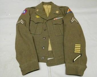 U.S. WW2 Army Field Jacket - 7th/5th Army  *ua621