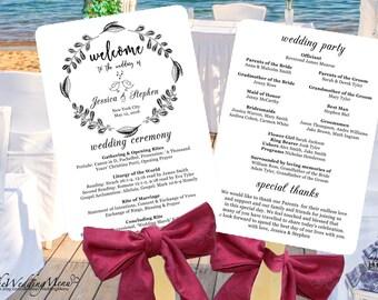 Wedding Program PDF Wedding Program Fan Wedding Fan Template Wedding Program Fans Order of Service Wedding Fan Program Fan Programs PDF 006