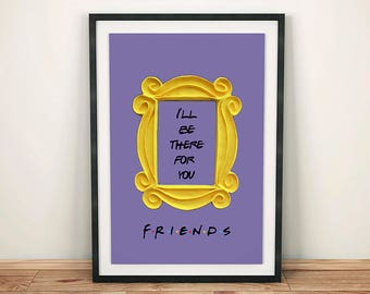FRIENDS tv show printable poster friends peephole frame friends door frame marco friends frame wall decor best friend gift