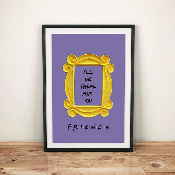 FRIENDS tv show printable poster friends peephole frame friends door frame marco friends frame wall decor best friend gift & FRIENDS tv show printable poster friends peephole frame pezcame.com
