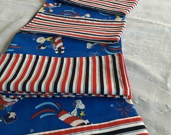 Peanuts Patriotic Cloth Dinner Napkins Set of 6