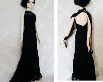 BJD, MSD, Doll outfit, Doll clothes, Doll dress. bjd  black dress
