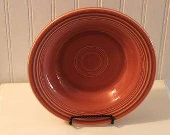 Vintage FIESTA WARE Deep Plates / Bowls -- Fifties Rose  --by Homer Laughlin Co.