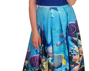 Under the Sea Maxi Skirt