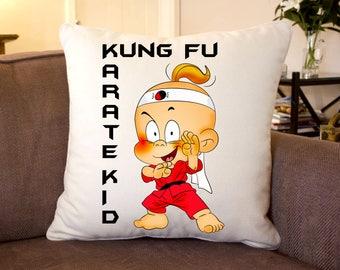 Kung Fu Karate Kid Silk Feel Cushion 35 cm Sq