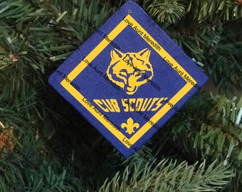 Boy Scout Cub Scout Girl Scout Personalized Ornament