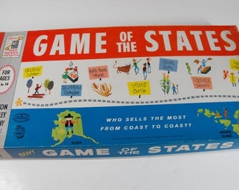 Game of the States Game by Milton Bradley 1960  (1185)