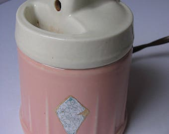 Vintage Hankscraft Electric Baby Bottle Warmer, Vaporizer. Pink with White Lid. Model 1013-B. (R22)