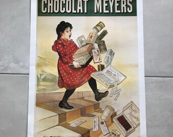 Vintage French Poster for chocolate MEYERS 17011810