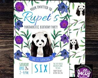 Panda Invitation, Panda Invite, Pandarrific Birthday, Pandarrific Party, Panda Party Invite