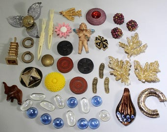 Found Object Supplies - Recyclable Jewelry - Bulk Jewelry  - Junk Jewelry - Curated Supplies - Salvage Jewelry - Assemblage Supplies
