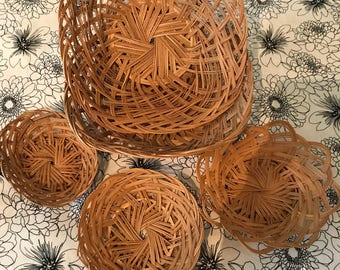 Boho Wicker Basket Collection
