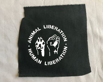 Vegan Patch | Punk patch | Screen print | Patches for Jackets | Metal patch | Equality Patch | Liberation Patch | Adopt Patch | Back Patch