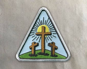 Calvary Patch | Sew on | Embroidery | Patches for Jackets | Christian Patch | Bible Patch | Tumblr Patch | cute Patch | Faith Patch