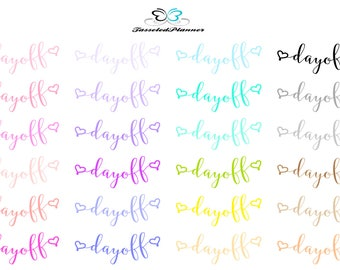Day Off Planner Stickers | Day Off Work Planner Stickers | Planner Stickers
