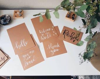 Add On Custom Calligraphy Greeting Card